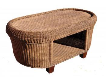 Ratanový stolek CANRI, 116x63cm Zahradní nábytek s.r.o. CTM020913-00