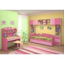 Dětský nábytek MIA - sestava č.1 růžová