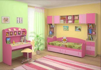 Dětský nábytek MIA - sestava č.1 růžová LENZA