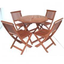 Zahradní stůl ISLAND Ø 90 cm, tvrdé tropické dřevo