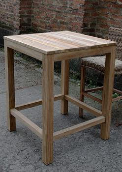 Jídelní stůl, masiv teak, 104x80x80 cm HD NABYTEK A20140