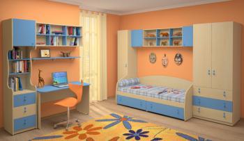 Dětský nábytek MIA - sestava č.2 modrá LENZA
