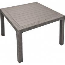 Zahradní stůl plastový MELODY QUARTED, cappuccino , 94x94x75 cm