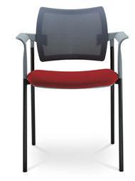Jednací a konferenční židle DREAM 130/B-S-N1, konstrukce černá, područky LD SEATING 130/B-S-N1
