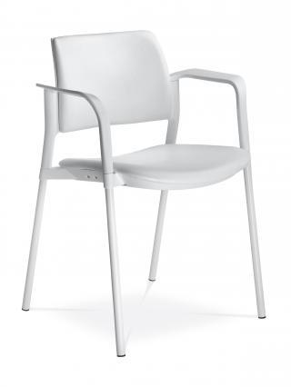 Jednací a konferenční židle DREAM+ 103-WH-NO, konstrukce bílá