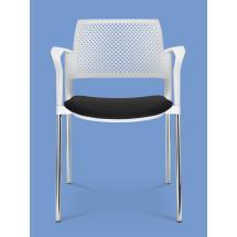 Jednací a konferenční židle DREAM+ 103-WH/B-N1, konstrukce černá, područky