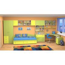 Dětský nábytek MIA - sestava č.4 žluto-zelená