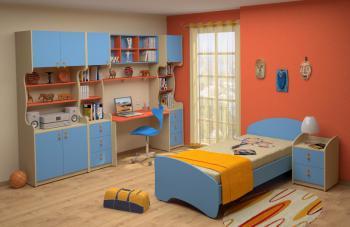 Dětský nábytek MIA - sestava č.5 modrá LENZA