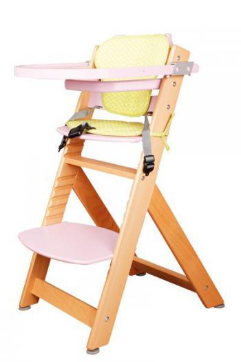 Židle dětská rostoucí přírodní/růžová Bradop Z523