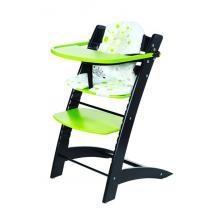 Židle dětská rostoucí černo/zelená