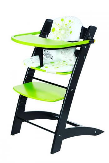 Židle dětská rostoucí černo/zelená Bradop Z522
