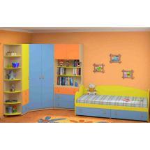 Dětský nábytek MIA - sestava č.8 modro-žlutá