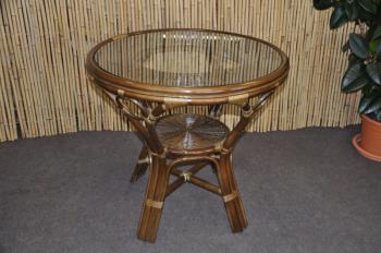 Ratanový jídelní stůl Bali hnědý Axin Trading s.r.o. 110191