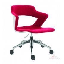 Kancelářské židle 2160 TC AOKI ALU, čalouněný sedák+opěrák