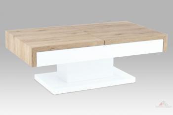 Konferenční stolek 110x60x40, san remo / vysoký lesk bílý AUTRONIC AHG-174 SRE