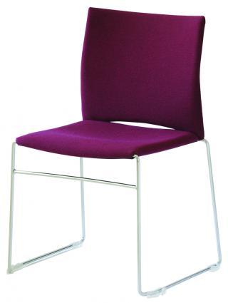 Čalouněná židle s chromovým rámem WEB (WB950.002)