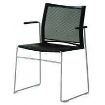 Mesh židle s chromovými područkami WEB (WB950.110)