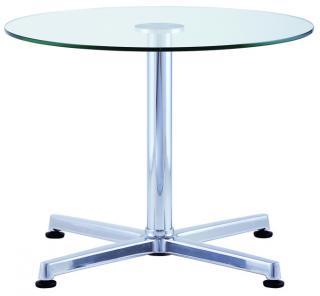 Konferenční stůl IRIS TABLE, Mléčné sklo  (IR 856.01), Ø 60cm
