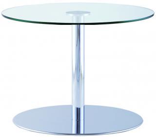 Konferenční stůl IRIS TABLE, Mléčné sklo  (IR 856.02),  Ø 60cm