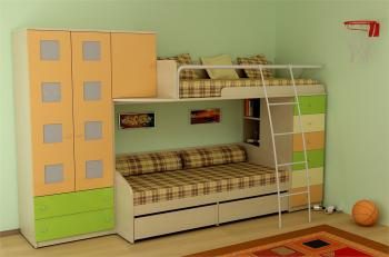 Dětský nábytek NEXT - sestava č.10 LENZA