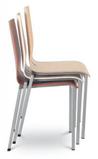 Jednací a konferenční židle TWIST 240-N4, chromovaná konstrukce