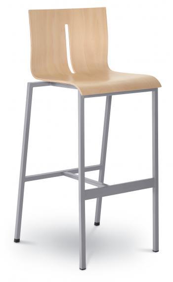 Barová židle TWIST 243-N2, konstrukce efekt hliník LD SEATING 243-N2