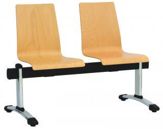 Dřevěná lavice  - multisedák POPPY (PP 6440), čtyřsedák
