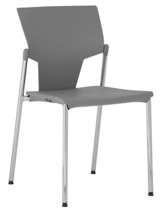 Plastová židle bez područek  KVADRATO (KV 131)