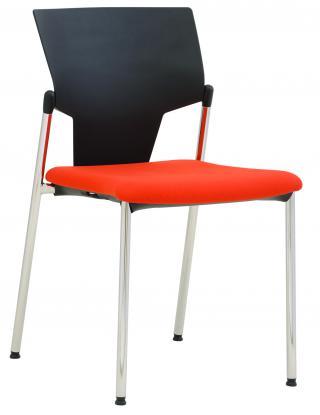 Čalouněná židle bez područek KVADRATO (KV 132)