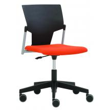 Čalouněná židle na kolečkách KVADRATO (KV 152)