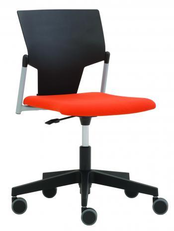 Čalouněná židle na kolečkách KVADRATO (KV 152) RIM KV 152