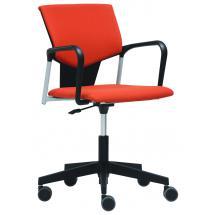 Čalouněná židle na kolečkách bez područek KVADRATO (KV 153)