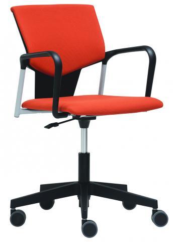 Čalouněná židle na kolečkách bez područek KVADRATO (KV 153) RIM KV 153
