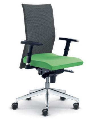 Kancelářská židle WEB, 405-SY, F80-N6, hliníkový kříž