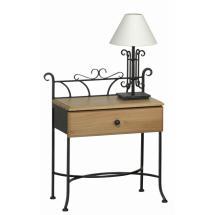 Noční stolek ALTEA se zásuvkou, 51 x 34/69 cm