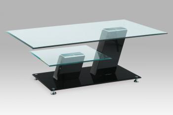 konf. stolek, sklo / vys. lesk černý AUTRONIC AHG-020 BK