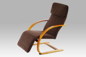relax. křeslo třešeň/potah tmavě hnědý AUTRONIC QR-31 TR2