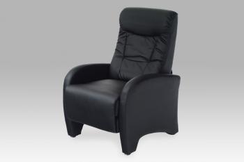 relax. křeslo, koženka černá AUTRONIC TV-7027 BK