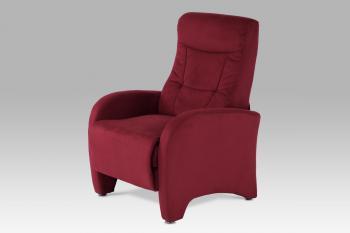 relax. křeslo, mikroplyš červený AUTRONIC TV-7027 RED2