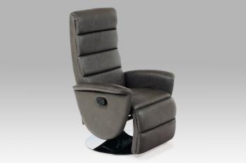 CX608702 Recliner sofa, grey PU 091 AUTRONIC TV-8702 GREY