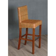 Ratanová barová židle, přírodní ratan Kubu