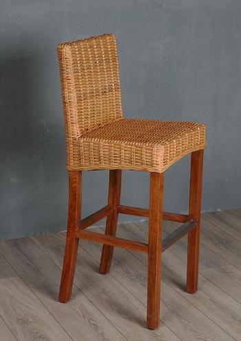 Ratanová barová židle, přírodní ratan Kubu HD NABYTEK A10316_VCA