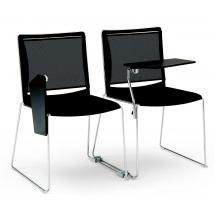 Jednací a konferenční židle AYLA/S NET + BR TAV, chromovaný rám