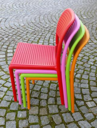 Plastová židle BORA, bez područek