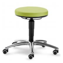Otočná stolička MEDI s černou kostrou