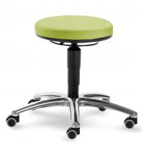 Otočná stolička MEDI s černou kostrou, čalouněná