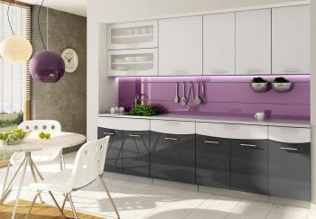 Kuchyně SMILE textile 240 s dvojvýklopem CASARREDO STR-SMI-240-ANT-TEX
