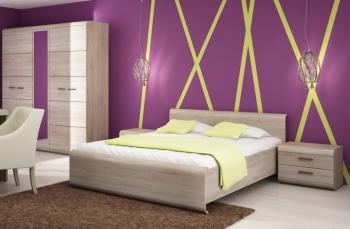 Sestava ložnice LINK son (skříň, postel, 2 noční stolky) CASARREDO LAS-LINK-SET-LOZ-SON