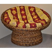 Papasan banánový list - polstr vínový motiv