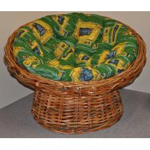 Ratanový papasan Abaka polstr zelený